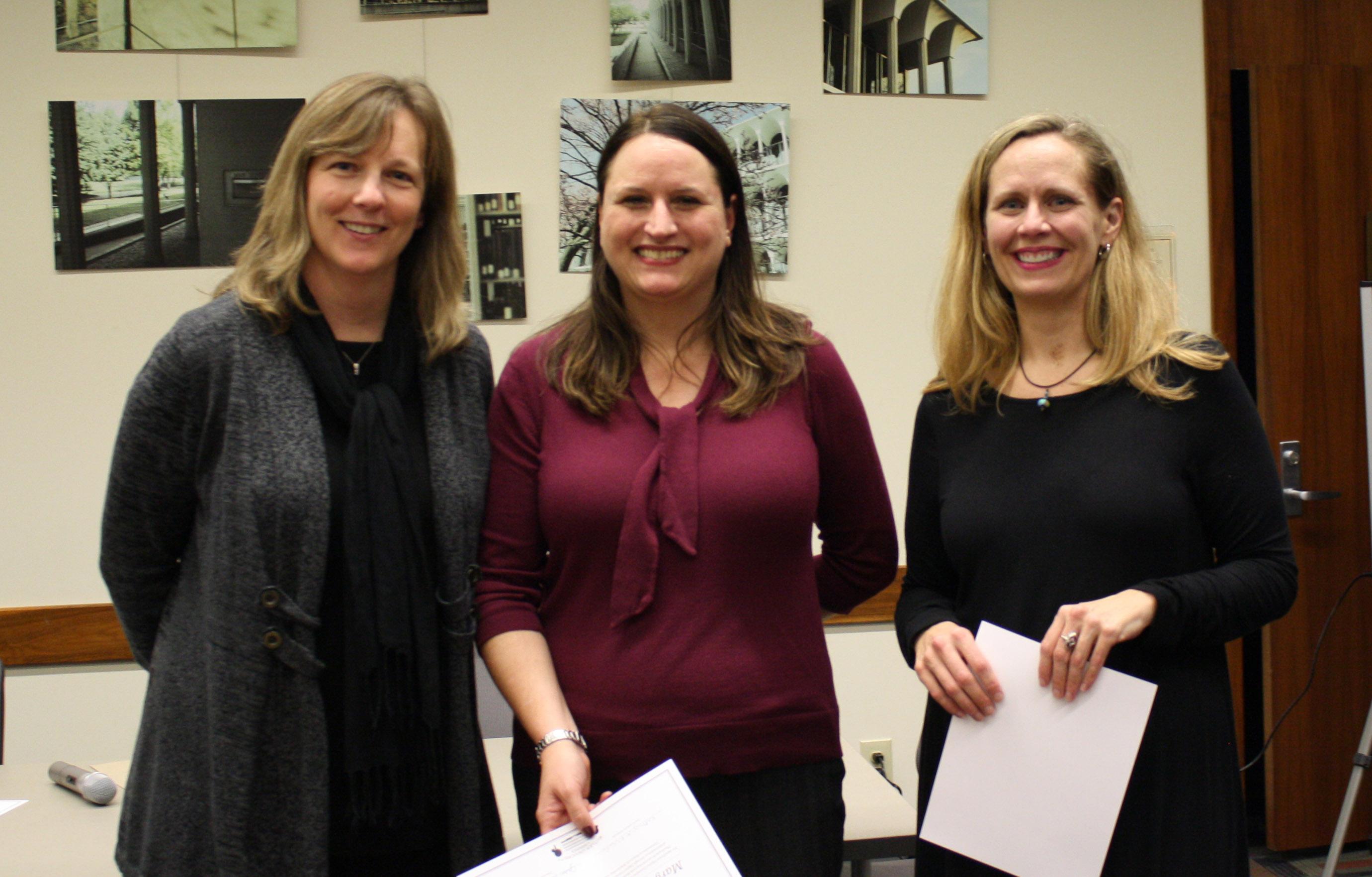 Celebration Certificate Recipients - CCOM faculty