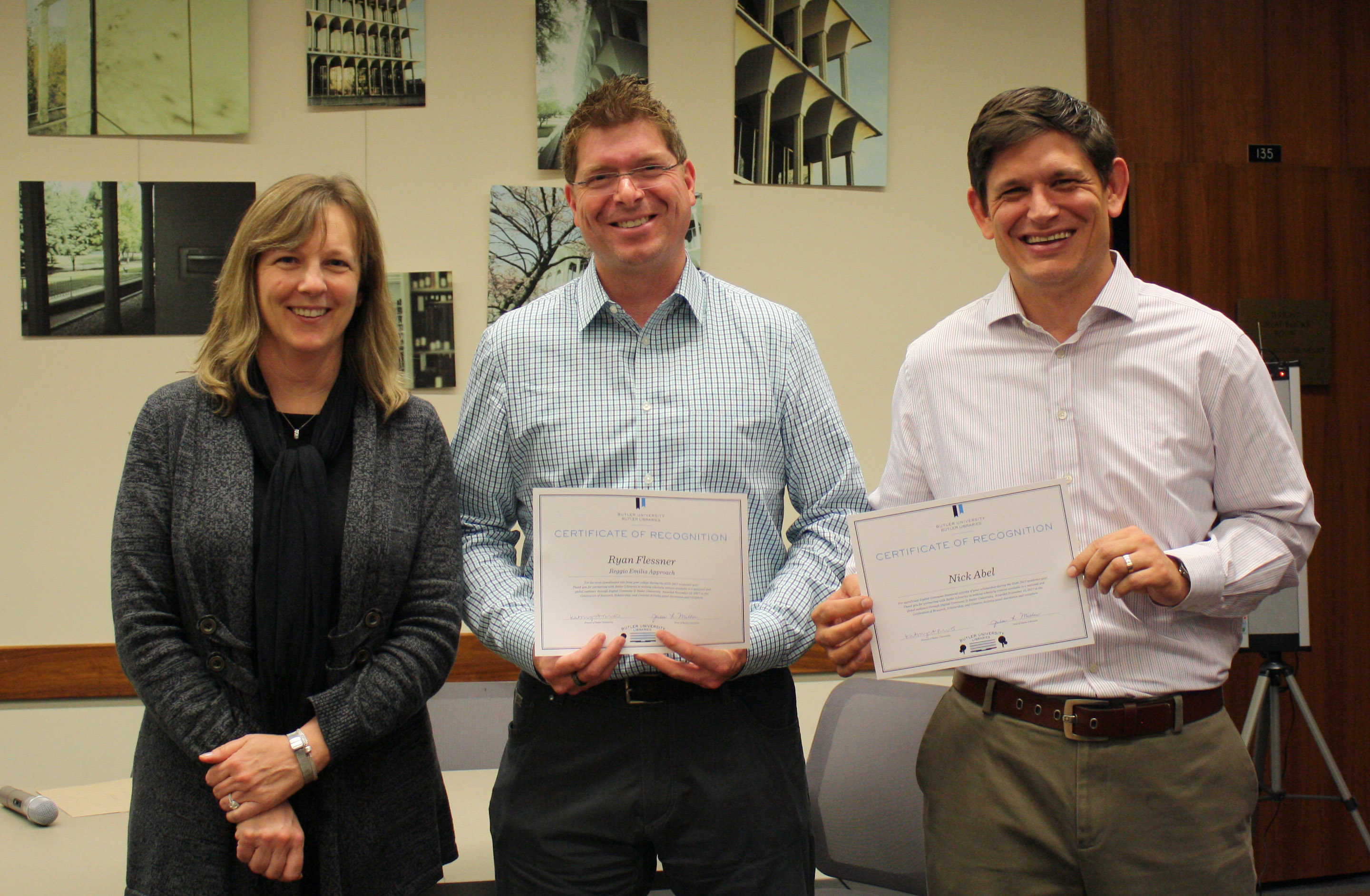 Celebration Certificate Recipients - COE faculty