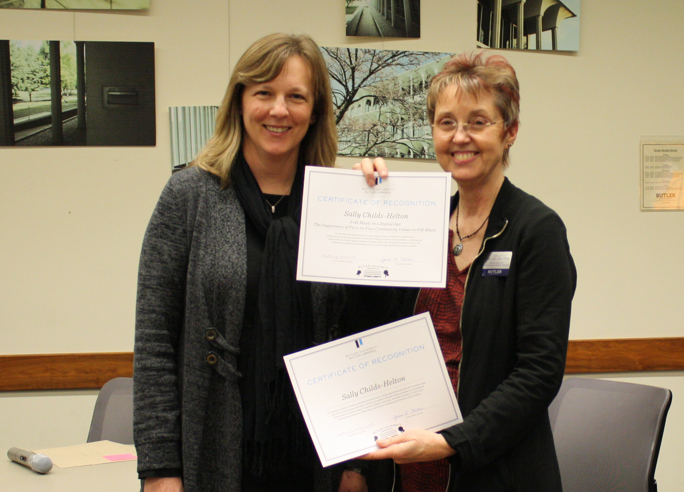 Celebration Certificate Recipients - Libraru faculty