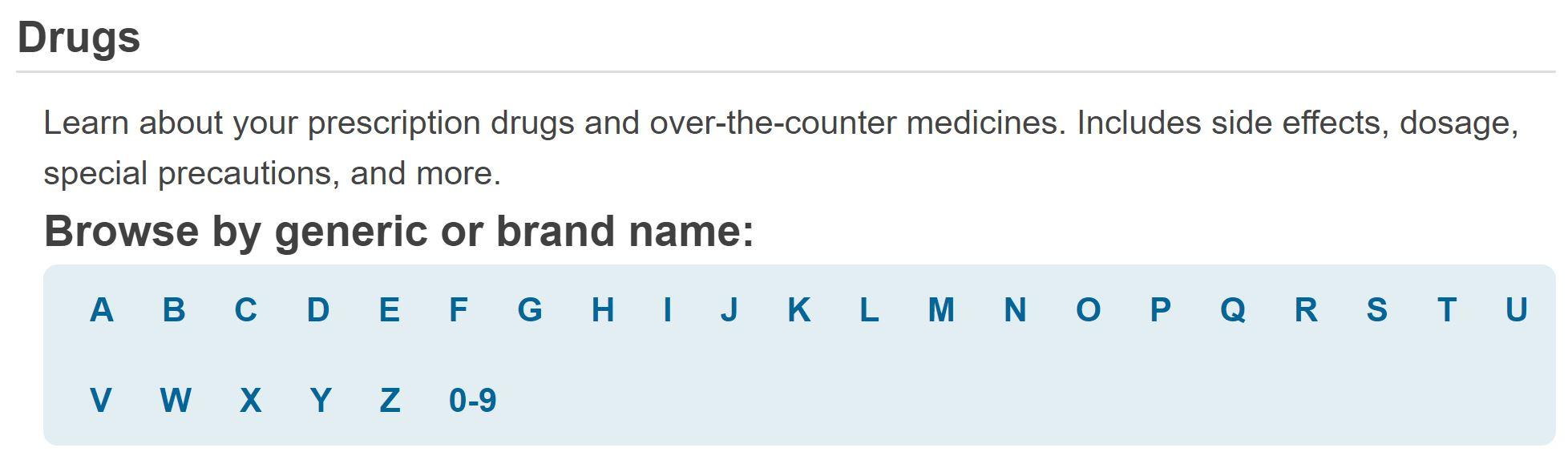 MedlinePlus drug page