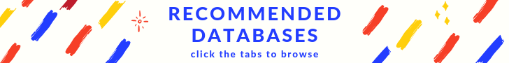 Recommended Databases - click the tabs to browse