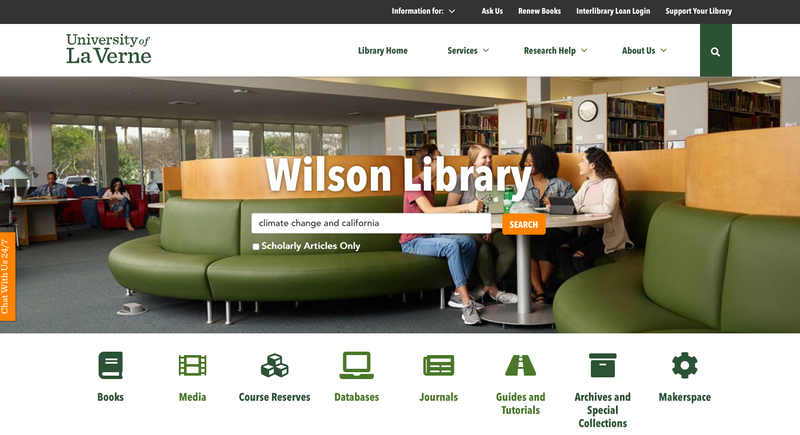 Library Website Home Page