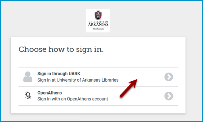 OpenAthens Choose How to Sign In