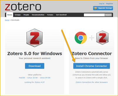Zotero Connector Install
