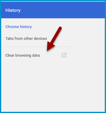 Chrome History Options