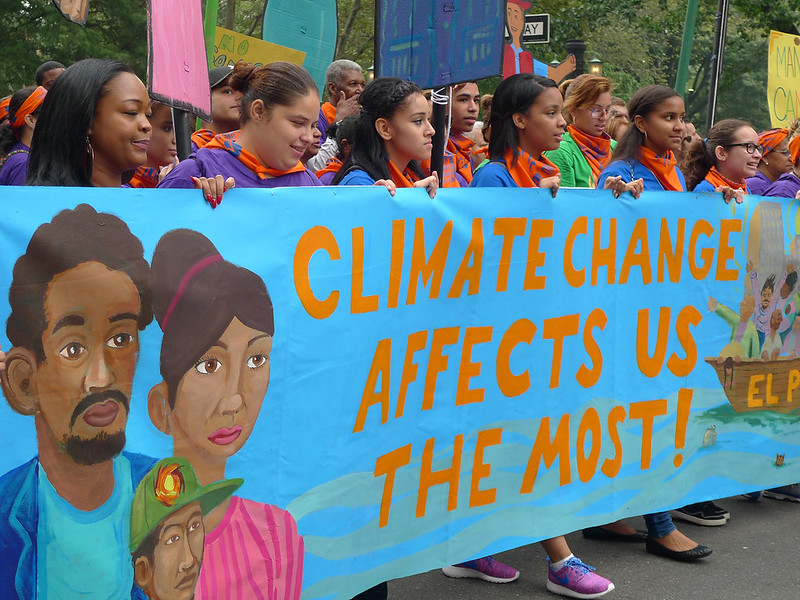 Image of protesters at Peoples Climate March NYC 2014