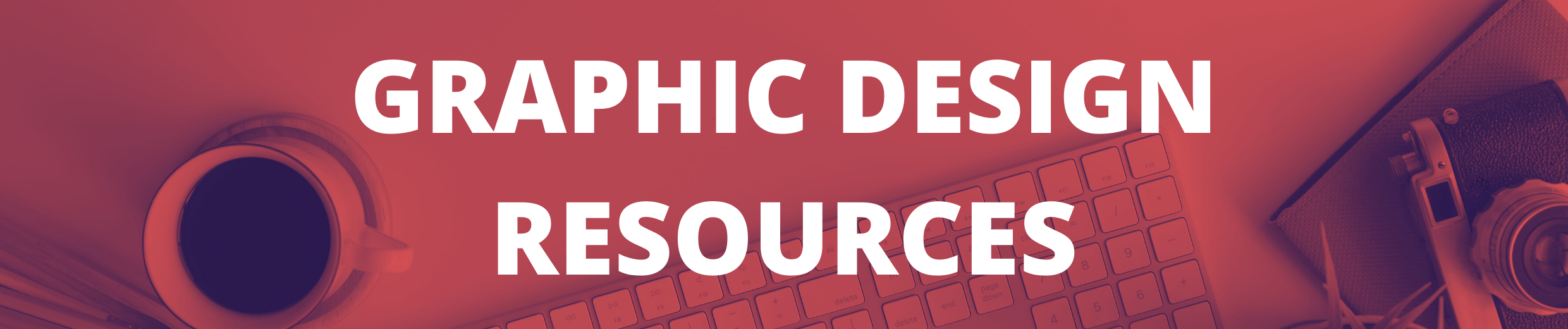 Graphic Design Resources Header