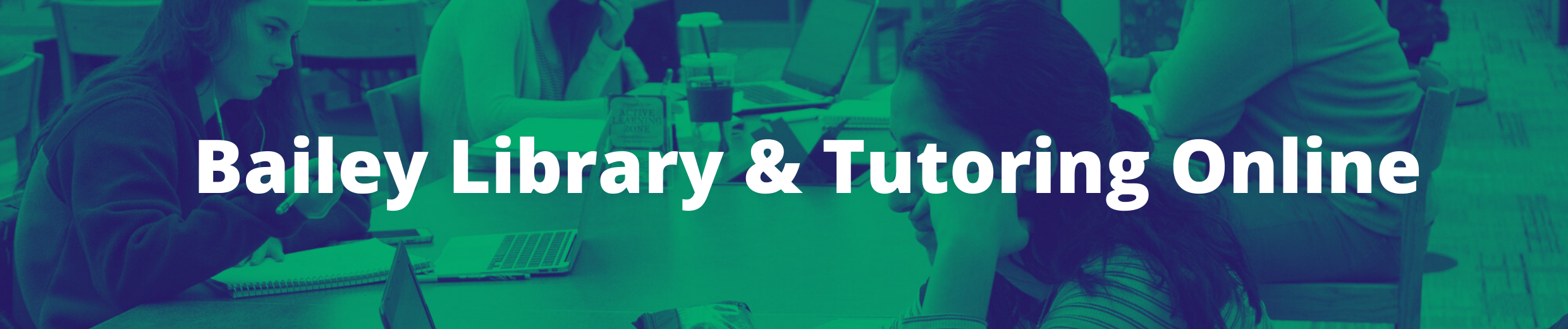 Bailey Library and Tutoring Online Header