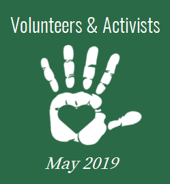 May 2019 - Volunteers and Activists