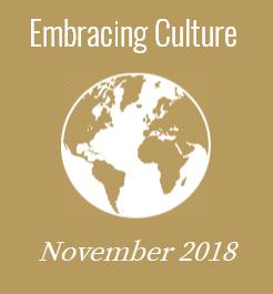 November 2018 - Embracing Culture