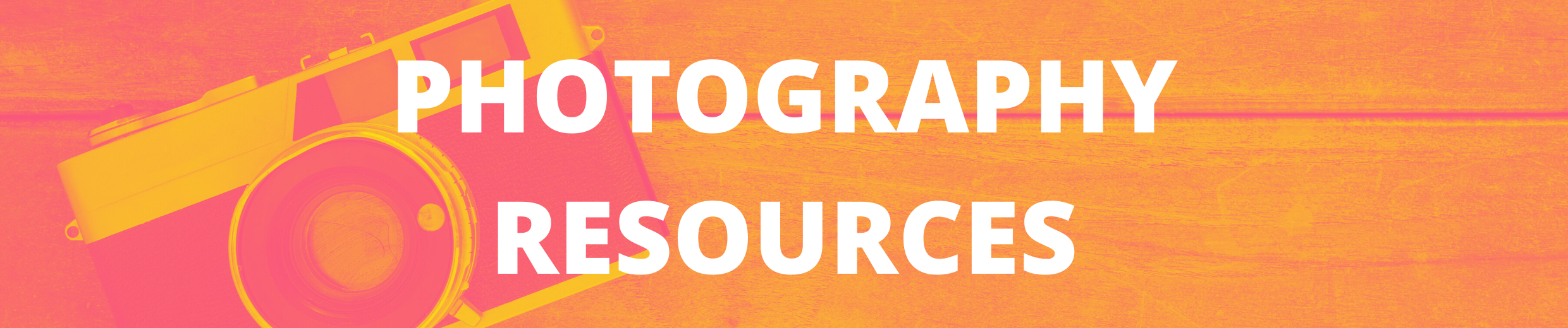 Photography Resources Header