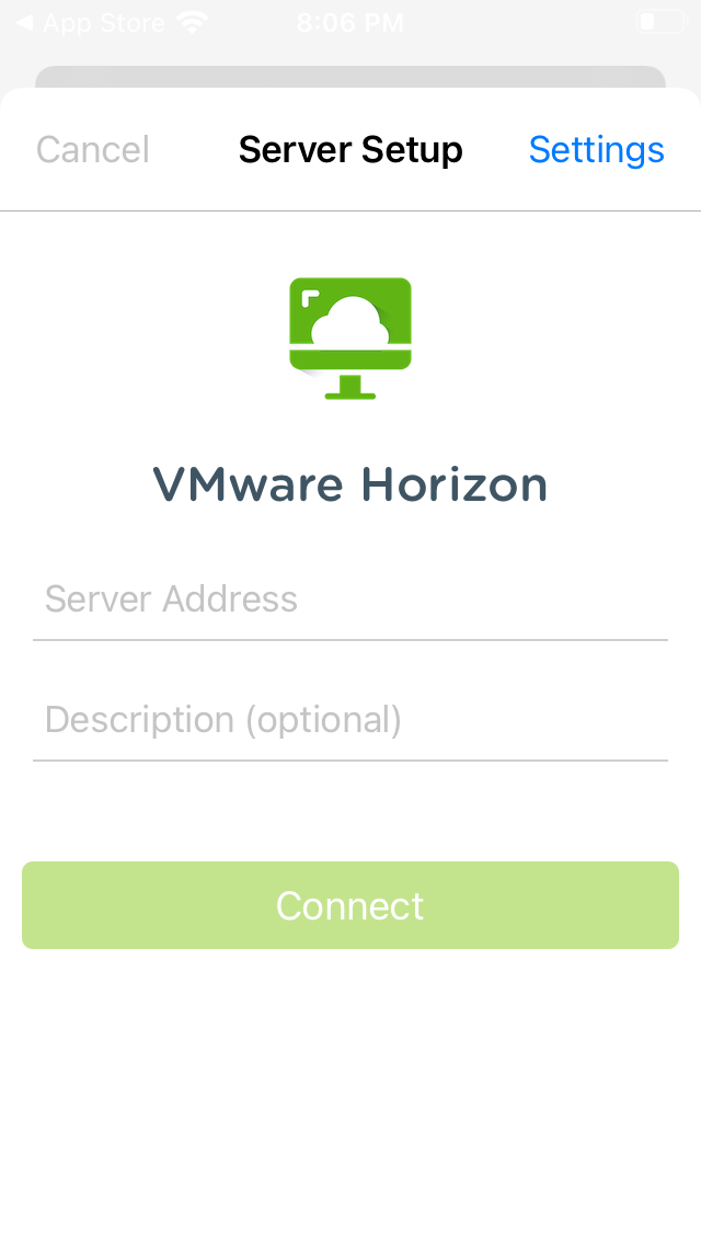 vmware horizon server address