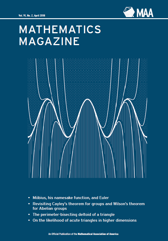 Mathematics Magazine cover art