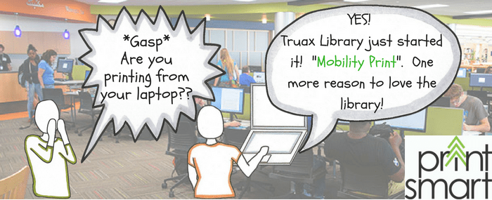 Mobility print in the truax library