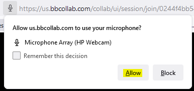 Allow access to microphone