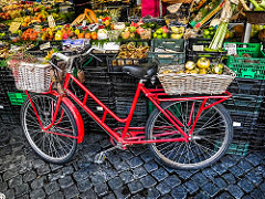 Bicycle at farmers market