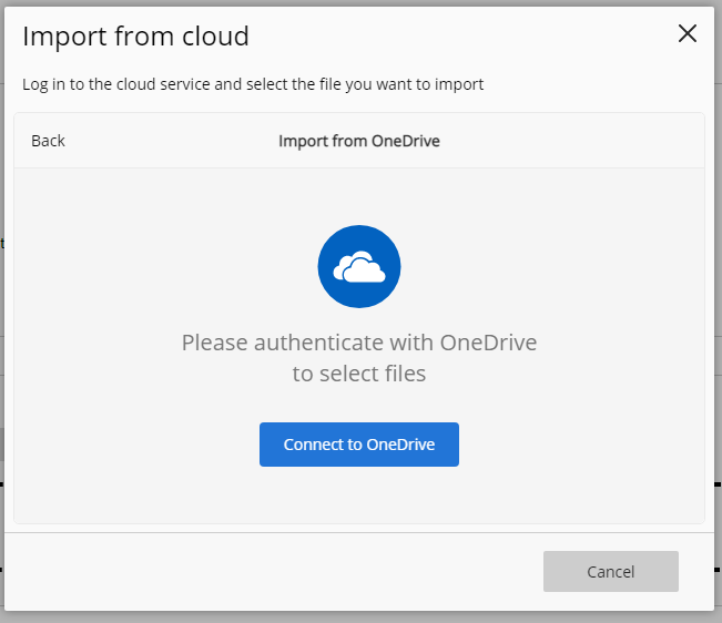 authenticate with onedrive