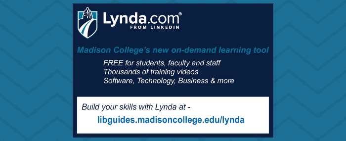 lynda.com available for MC students, fac, staff