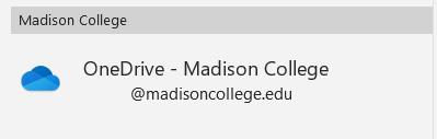 onedrive - Madison College