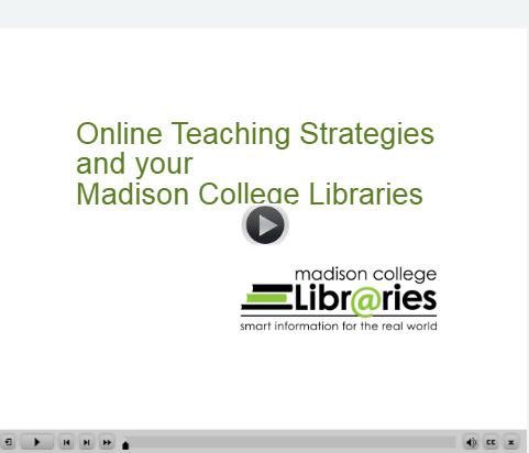 Online teaching strategies video screenshot with play icon
