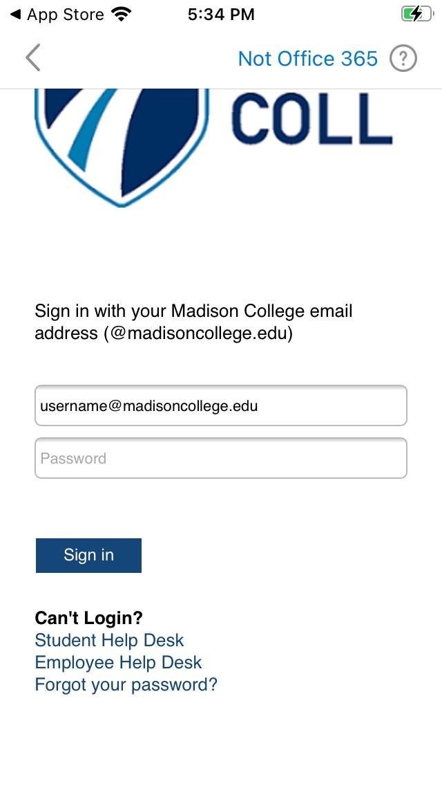 Madison College SSO login