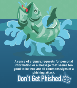 Don't Get Phished image of fish