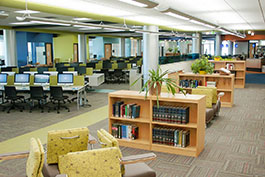 Truax Library Reference Shelves