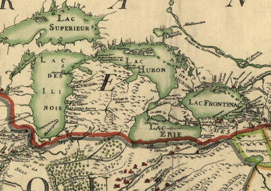Franquelin's map of North America, 1683