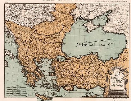 1700 map of Ottoman Empire in Europe