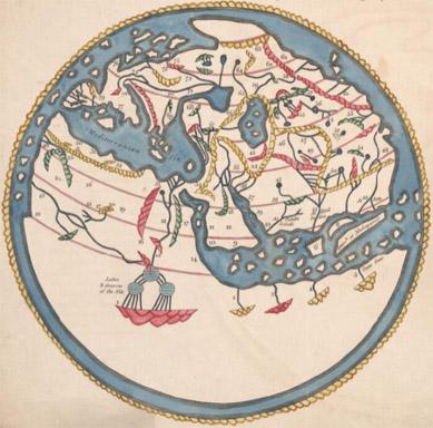 1800 reproduction of 1154 Idrisi map