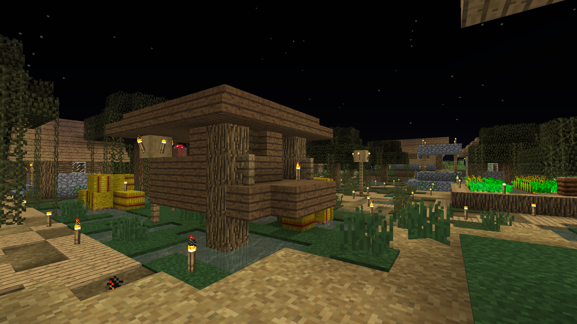 """Naturally occurring """"swamp village"""" with witch hut"""