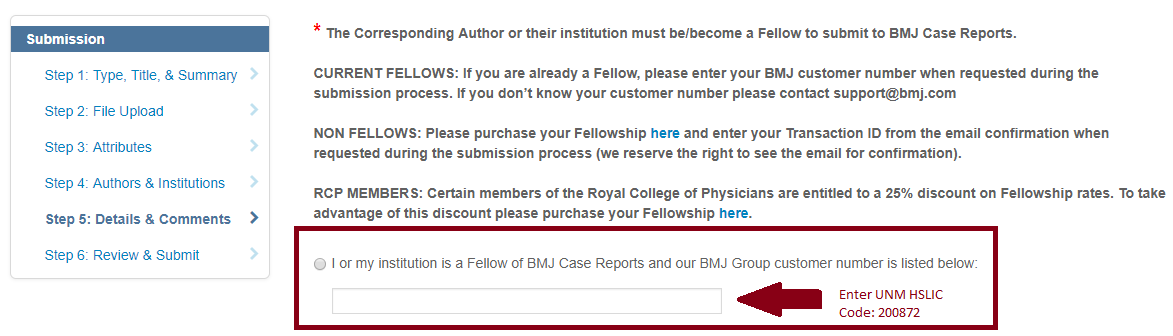 BMJ Case Reports Submission website
