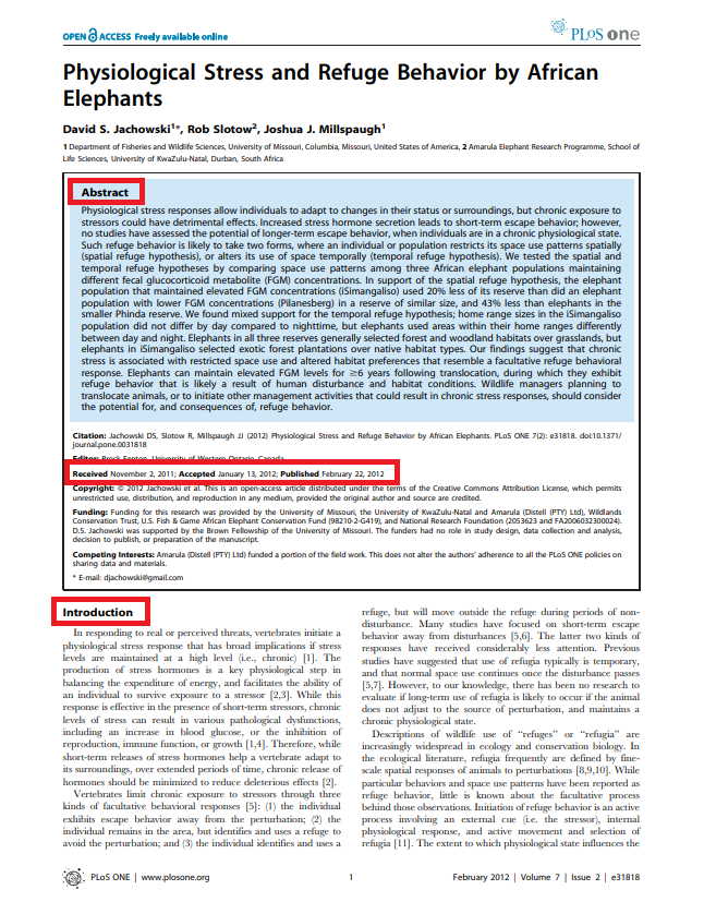 Example of a Research Article
