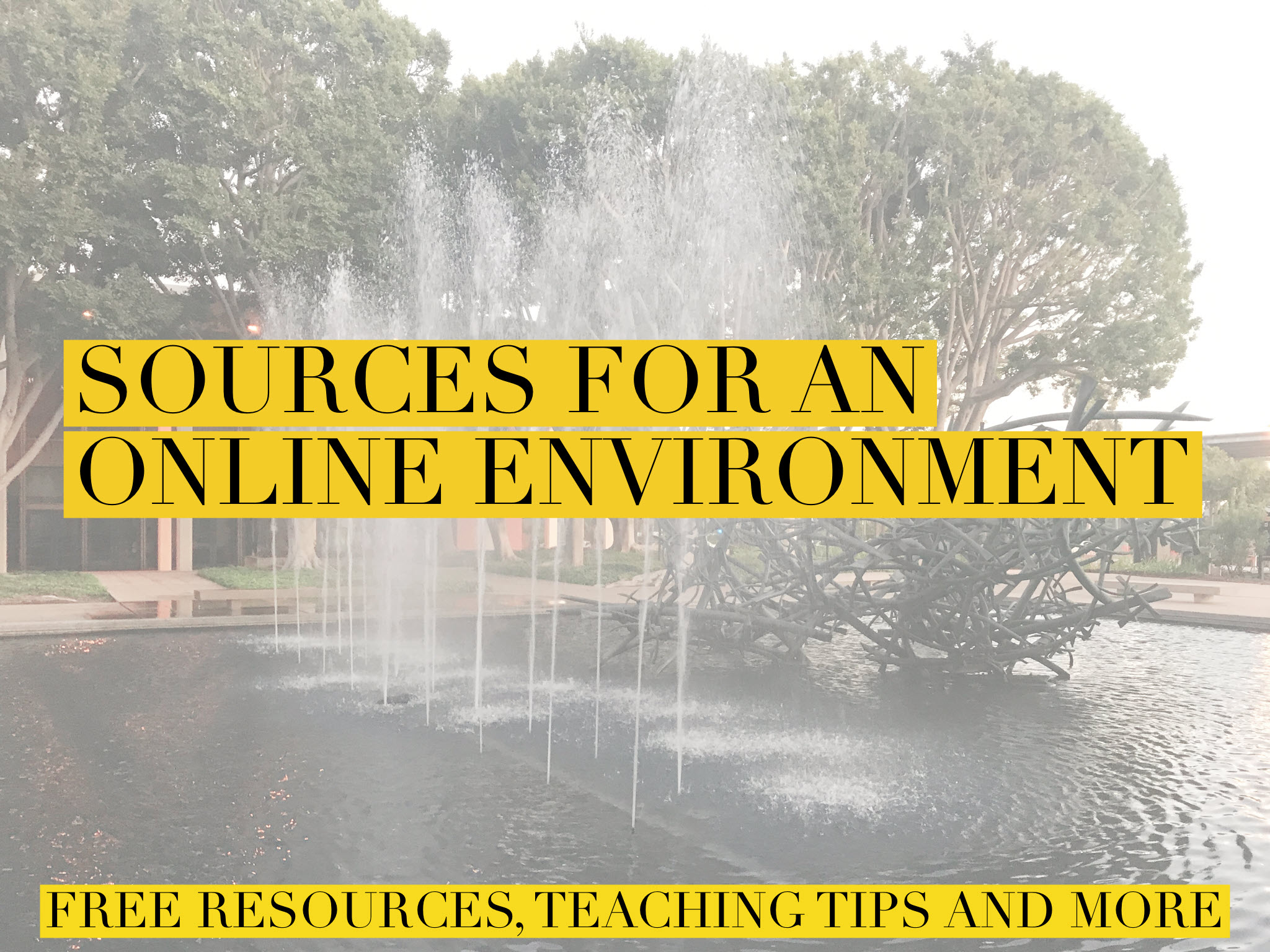 sources for an online environment