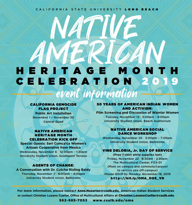 Native American Heritage Month Events at CSULB 2019