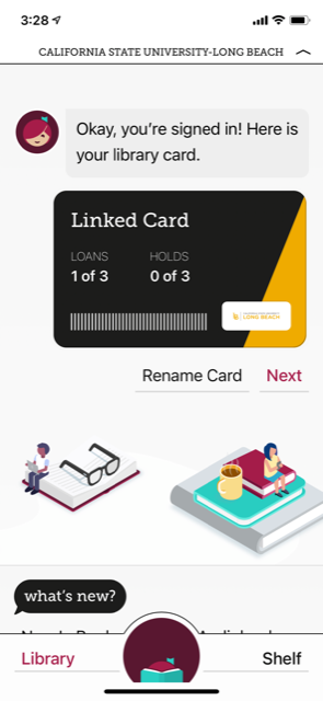 library card homepage in Libby app