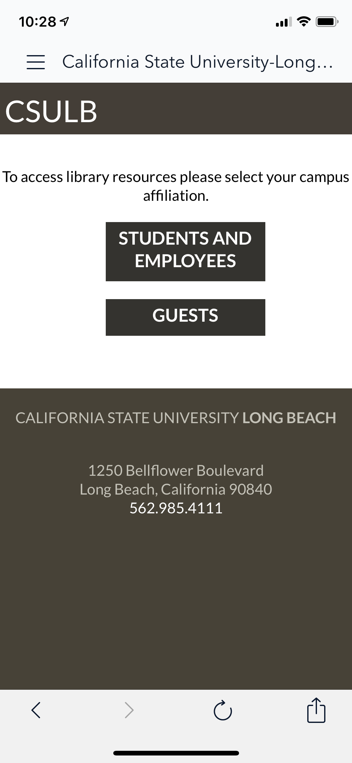 CSULB Single Sign On page in OverDrive