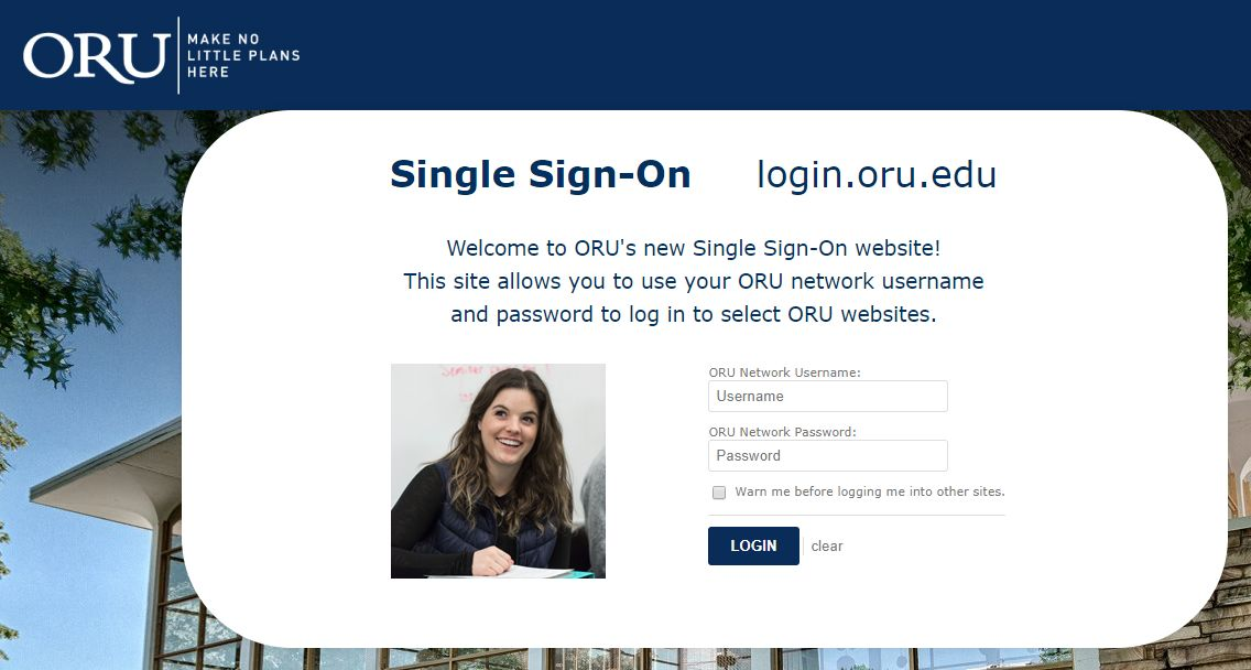 screenshot of single sign-on