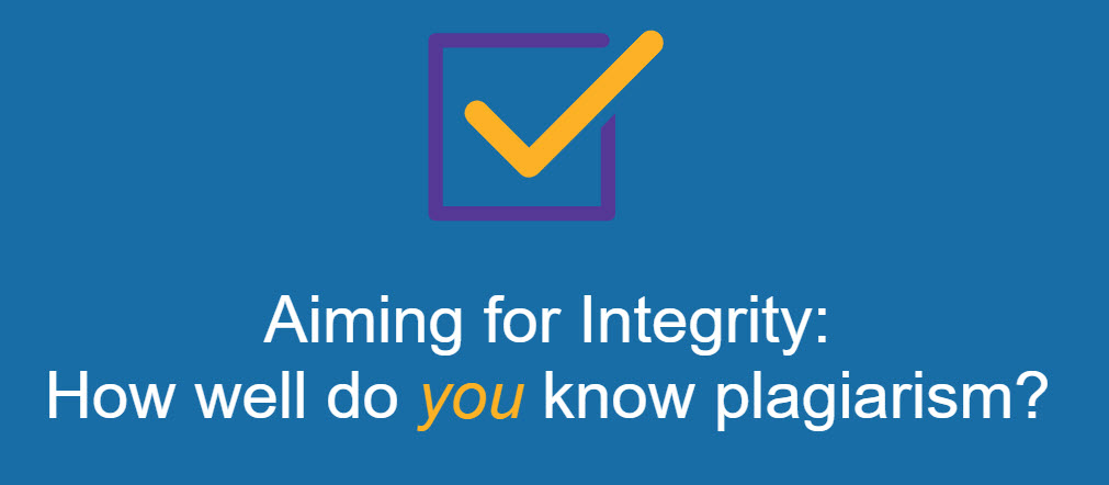 Aiming for Integrity Plagiarism graphic