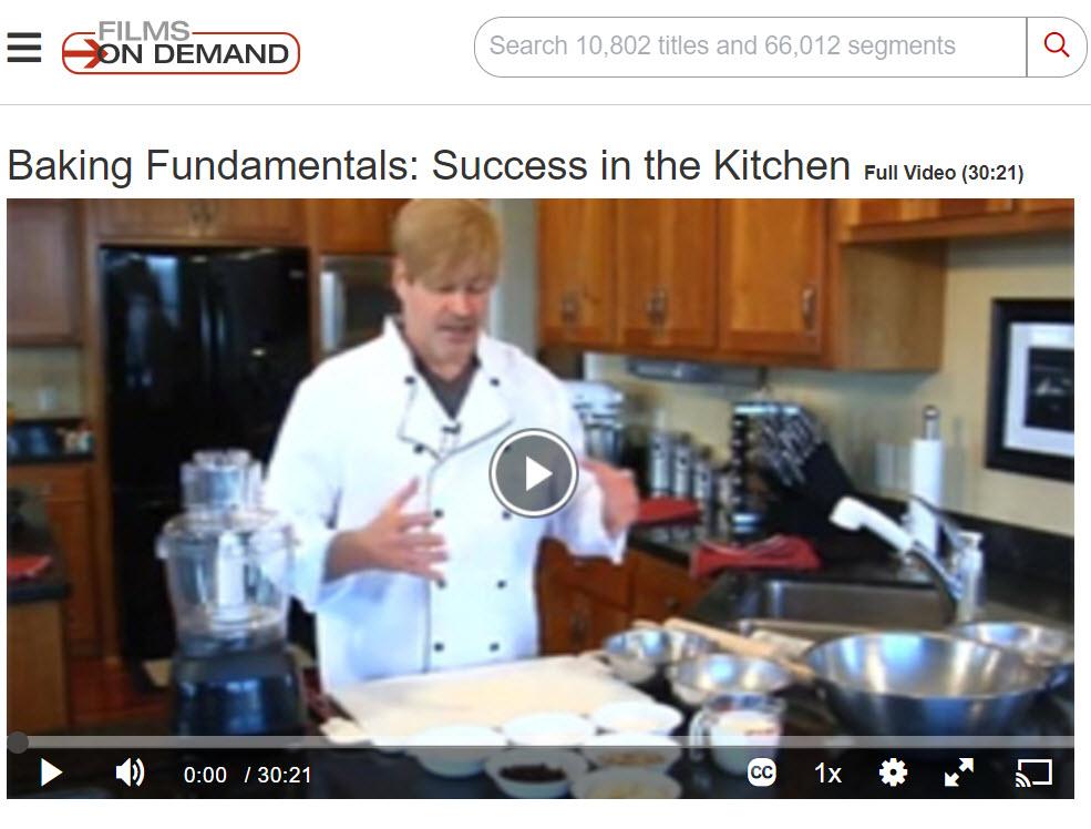 Baking Fundamentals screen