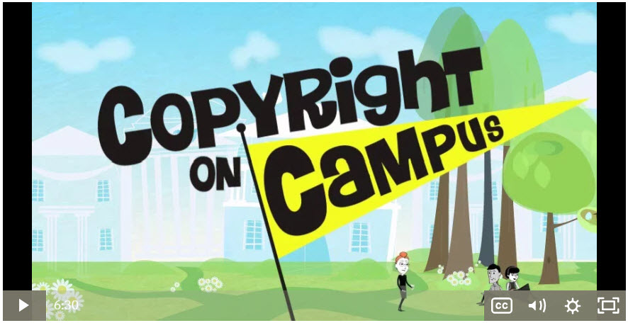 Copyright on Campus video screen