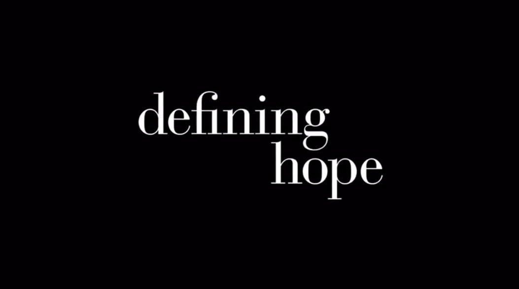 Defining Hope title screen