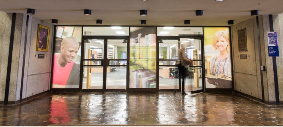 GRCC Library Front Entrance