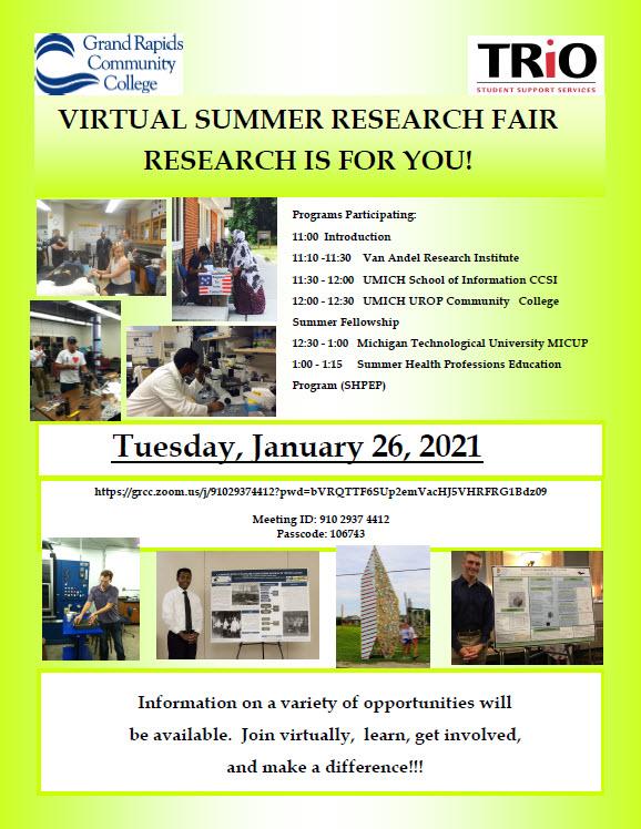 Virtual Summer Research Fair