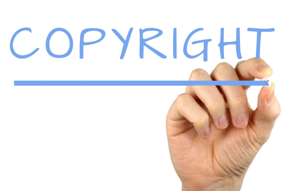 Copyright with hand