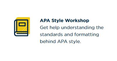 APA style workshops with image of a book
