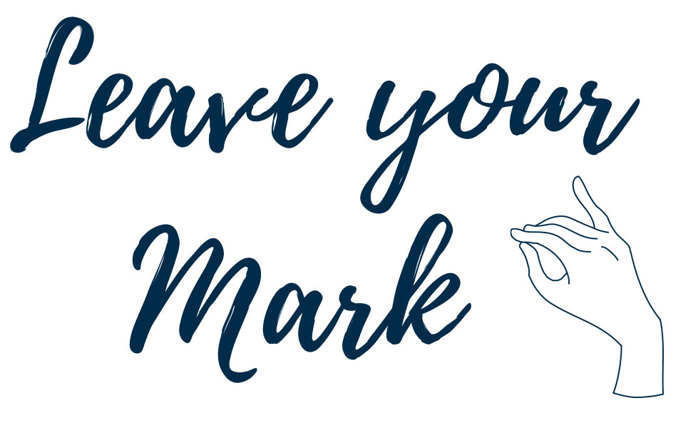 Leave your mark and drawing of hand