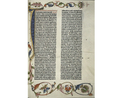 page from a facsimile of the 1454 Gutenberg Bible