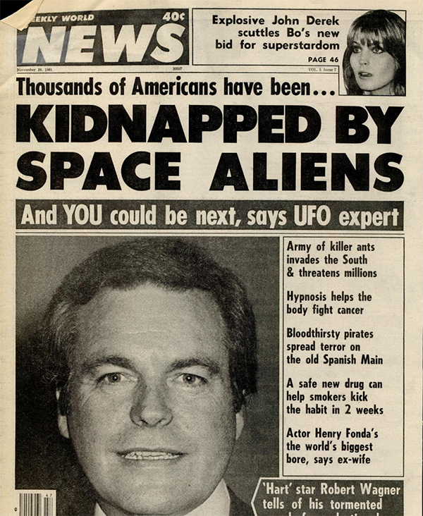 Weekly World News Cover