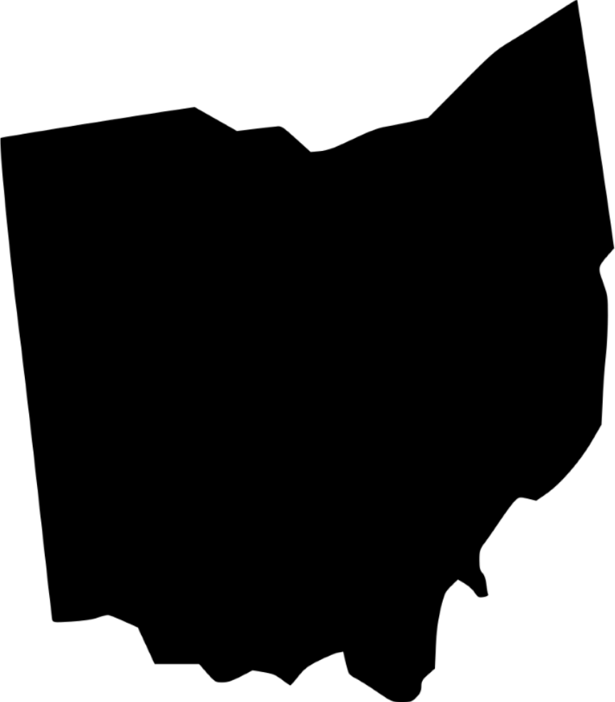 silhouette of the State of Ohio